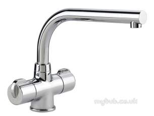 Rangemaster Brassware -  Leisure Aquadisc Mixer Tap Brush Ed St