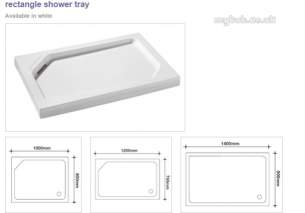 Manhattan Shower Enclosures -  Manhattan Duralite V2 1200 X 760mm Tray