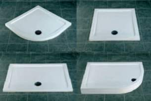 Eastbrook Showers -  30.3001a Resinlite 760 X 760 Tray White