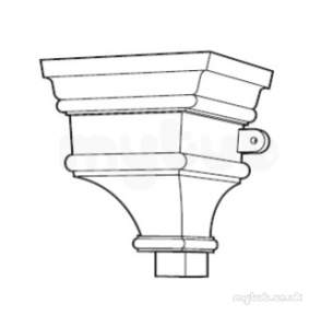 Hargreaves Sand Cast Rainwater -  Hargreaves H544 Orn Head 380mm Rh544