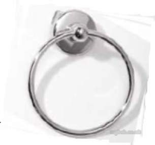 Roper Rhodes Accessories -  Wessex 3522.02 Towel Ring Chrome