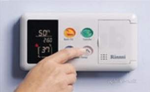 Rinnai Range Of Gas Wall and Water Heaters -  Rinnai De-luxe Bathroom Controller