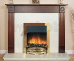 Rob Willey and Grateglow Electric Fires -  Rw Supereco Contemporary Ii Elec Brass
