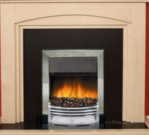 Rob Willey and Grateglow Electric Fires -  Rw Supereco Contemporary Ii Elec Chrome