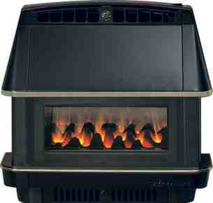 Robinson Willey Gas Fires and Wall Heaters -  Rob Willey Firecharm Rs Black Ng