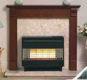 Robinson Willey Gas Fires and Wall Heaters -  Rob Willey Firegem Visa Black Ng