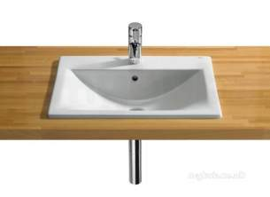 Roca Sanitaryware -  Roca Diverta 550mm 1th In Countertop Basin Wh