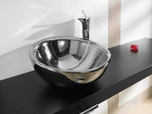 Roca Sanitaryware -  Roca Bol 420mm On C/top Basin Cp Argenta