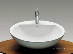 Roca Sanitaryware -  Roca Fontana 600mm 1th W/h Or On C/top Basin Wh