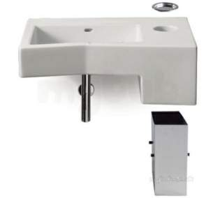 Roca Sanitaryware -  Roca Forum 800 X 550mm Nth Wall Hung Basin Wh