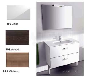 Roca Furniture and Vanity Basins -  Roca Victoria Unik 800 Basin Plus Unit Pk Wenge
