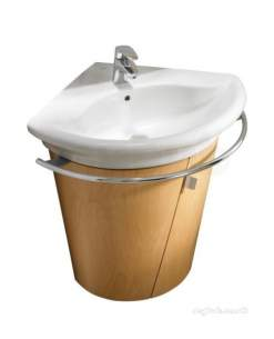 Roca Furniture and Vanity Basins -  Roca Giralda Corner Base Unit Maple Wood