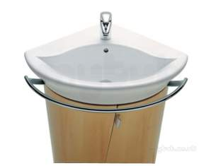 Roca Sanitaryware -  Roca Girlada 1th Corner Basin 500 X 500mm