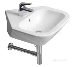 Roca Sanitaryware and Accessories -  Roca Nexo 500 X 545mm 1th Corner Basin White