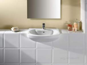 Roca Sanitaryware -  Roca Senso 560 X 460mm 1th S/rec Basin White