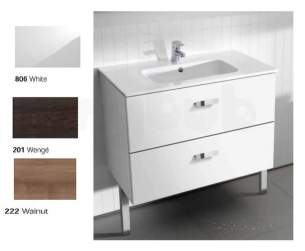 Roca Furniture and Vanity Basins -  Roca Victoria Unik 600 X 450 Basin Plus Unit G/wh