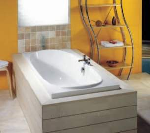 Eastbrook Baths -  23.0231 Roma Plain 1800 X 800 5mm White