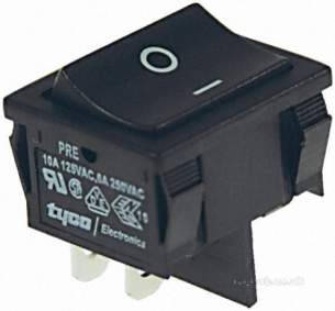 Rs Components -  Rs 495-4074 Black Dpst On/off Switch