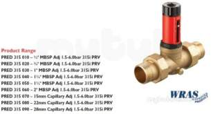 Filling Loop Non Return Valves Strainers -  Rwc 315i Dial-up Pressure Red Valve 1/2