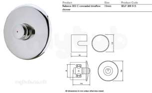 Rwc Water Mixing Products -  Timeflow 503c Conc Shower Valve Self 200 015