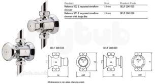 Rwc Water Mixing Products -  Timeflow 503e Exp Shower Valve Self 200 025