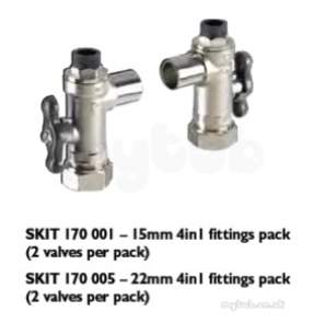 Rwc Water Mixing Products -  Rwc Heatguard 4 In 1 Inlet Iso Valve 15mm