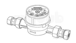 Filling Loop Non Return Valves Strainers -  Rwc 3/4 Inch Etw Class A Hot Water Meter