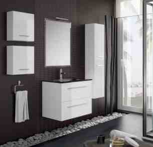Salgar Showroom Furniture -  Salgar 14738 White Creta Vanity Cabinet 560x997 Mm