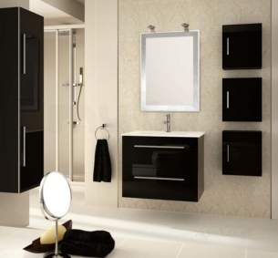 Salgar Showroom Furniture -  Salgar 15580 Black Creta Vanity Cabinet 560x797 Mm
