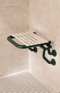 Neaco Shower Trays -  Neaco Df5805 Lux Hinged Shower Seat Wh