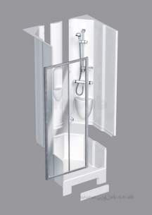 Coram Shower Pods -  Coram 1200 Alcove Sliding Door Pod Ps/cl Door Only