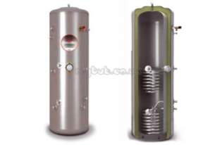 Albion Ultrasteel Unvented Cylinders -  Albion Ultrasteel 250l Indirect Solar Cylinder