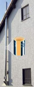 Specflue Twinwall System -  200mm Ceramic Wall Support 80-400mm
