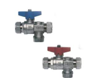Rada And Meynell Commercial Showers -  Meynell 22mm Isolating Strainer Valves