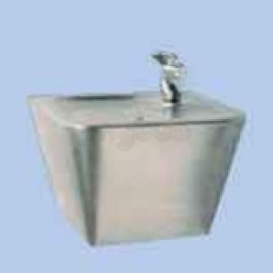 Twyfords Commercial Sanitaryware -  Ss8001 Wall Mounted Drinking Fountain Ss Ss8001ss