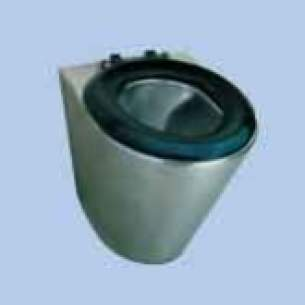 Twyfords Commercial Sanitaryware -  Vecta Ss8302 Flr Mtd Pan Seat And Lid Ss8302ss