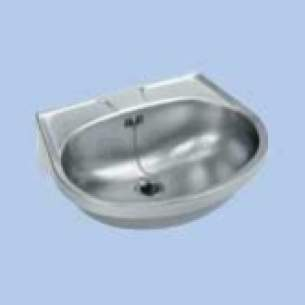 Twyfords Commercial Sanitaryware -  Vecta Ss8501 Wall Mounted One Tap Hole Vanity Basin 560mm Ss8501ss