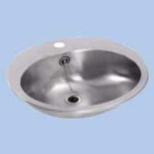 Twyfords Commercial Sanitaryware -  Vecta Ss8504 Inset Washbowl One Tap Hole Ss8504ss