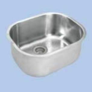 Twyfords Commercial Sanitaryware -  Vecta Ss8701 Inset Bowl 415x340mm No O/f Ss8701ss
