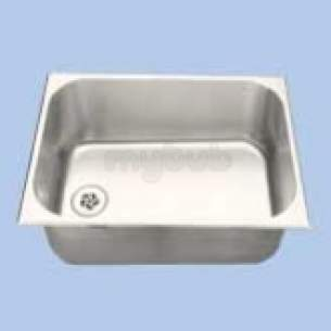 Twyfords Commercial Sanitaryware -  Vecta Ss8702 Inset Bowl 500 X 380mm No O/f Ss8702ss