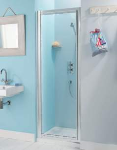 Advanced Showers Cubicles and Enclosures -  Adv Showers 900mm Pivot Dr And Side Panels Wht