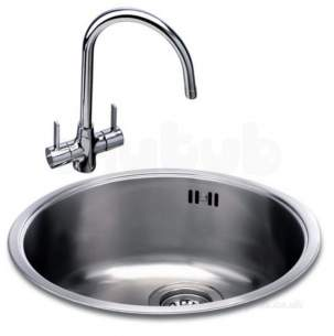 Carron Trade Sinks -  Carisma 400 440mm Round Bowl Pol S/steel