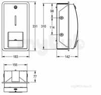 Sissons Stainless Steel Products -  F0134 Stratos Wall Mounted Toilet Roll Hldr Ss