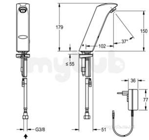 Sissons Stainless Steel Products -  Sissons Protonic-s Pillar Tap Mains
