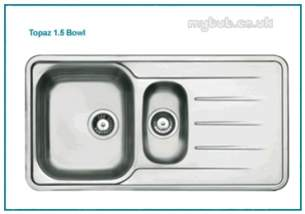 Astracast Sinks and Accessories -  Topaz 1.5b Feature Sink Pack Satin Pol