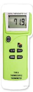 Test Products International Detectors -  Tpi 343 Thermometer Digital Dual K Type