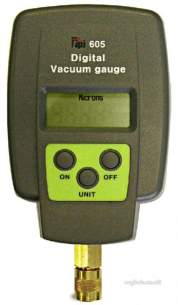 Test Products International Detectors -  Tpi 605 Vacuum Gauge Digital 25-12000m