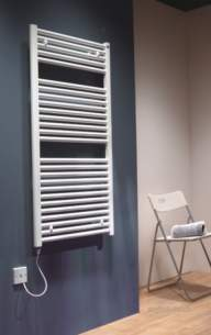 The Radiator Company Towel Warmers and Decorative Rads -  Caleido Electric 1185x500 White Calee1150w