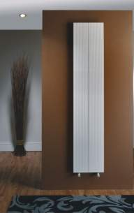 The Radiator Company Towel Warmers and Decorative Rads -  Loft Vertical 1500 X 200 White Loftv1520w