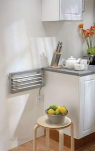 The Radiator Company Towel Warmers and Decorative Rads -  Poll Kitchen Electric 230 X 450 White